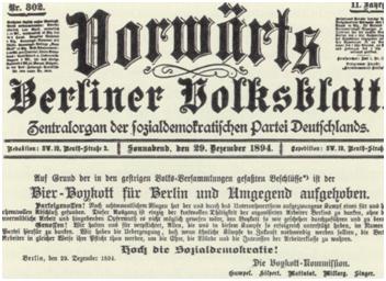 """Der Berliner Bierboykott von 1894 – Der Bierkonsum als Instrument des """"Klassenkampfs"""""""