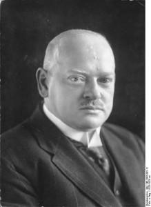 Reichskanzler und Friedensnobelpreisträger Gustav Stresemann